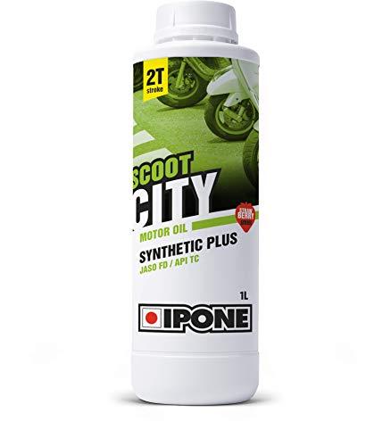 IPONE – Huile Scooter 2 Temps Scoot City - Bidon 1 Litre - Lubrifiant Semi-Synthétique Haute...