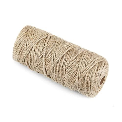 N\C Sudaxinhong-es 1pcs 100m Thin Thine Burlap String Himp for Party Regalo Cuerda Atmósfera Decoración Bricolaje Herramientas de Costura (Color : 1pcs)