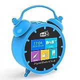 Radio despertador con altavoz, radio FM con pantalla LED, carga USB y ranura para tarjeta TF, para dormitorio de niños