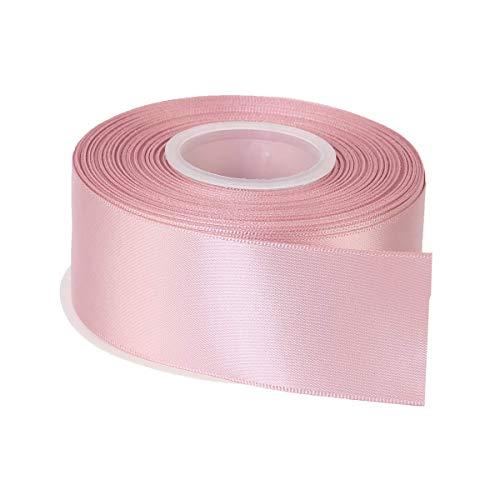 1m = 0,30 € bucles banda 20m x 15mm Baby rosa bautizo cumpleaños dekoband