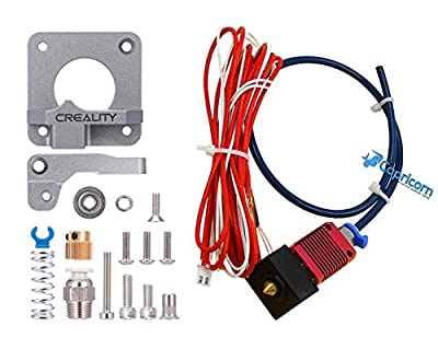 Creality Upgrade Aluminum Bowden Extruder and 24V 40W MK8 Hot End Kit with Capricorn Premium Tubing for Ender 3/ Ender 3 Pro 3D Printer