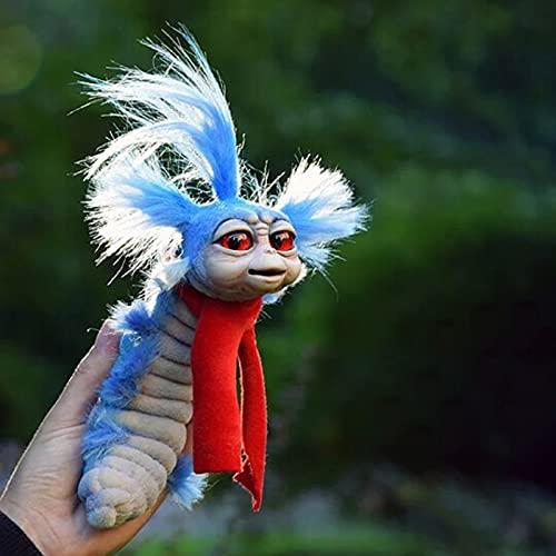 Wurm aus dem Labyrinth Kawaii Fans von The Maze Plüsch Puppen Spielzeug Dekoration Funny Kuschel Stofftier Toy Schöne Monster Figuren Ornaments Plüschtiere Deko für Erwachsene Kinder 7.5Zoll