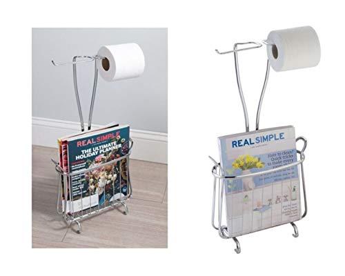 InterDesign Axis - Revistero y Dosificador de papel higiénico