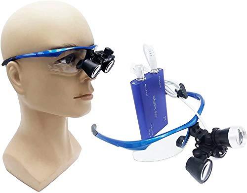 Lupa, Lupa Dental, Lupa médica, Gafas quirúrgicas, 2.5 Veces la Fuente de luz Ajustable LED