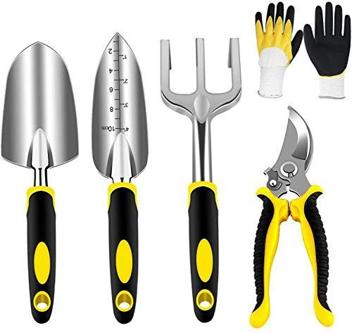 WANGLXFC - Kit de plantación de mano de aluminio, kit de jardinería para interiores y exteriores, regalo para mujeres y hombres