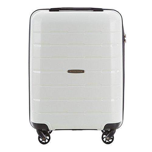 WITTCHEN Koffer – Handgepäck | hartschalen, Material: Polypropylen | hochwertiger und Stabiler | Weiß | 29 L | 55x38x20 cm