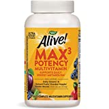 Nature's Way Alive! Max3 Daily Adult Multivitamin, Food-Based Blends (1, 060mgper serving) & Antioxidants, 180 Tablets