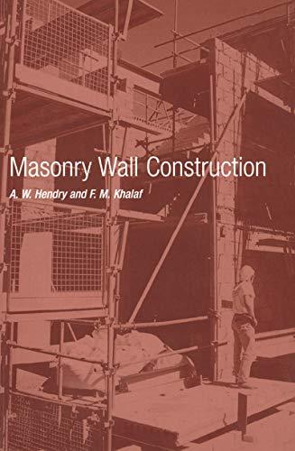 Masonry Wall Construction (English Edition)