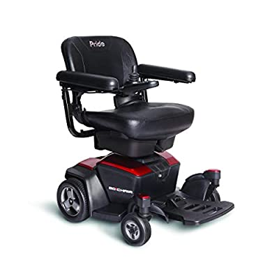 Pride Mobility Go-Chair Mobility Scooter – Compact Motorized Electric Scooters for Adult (Red)