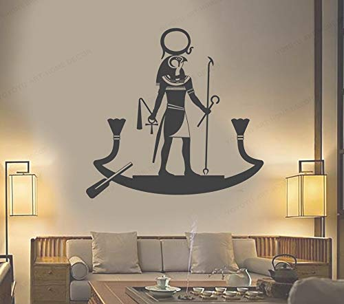 Ancient Egyptian God Wall Stickers For Living Room Religion Egypt Home Interior Wall Decoration Bedroom Vinyl Wall Mural 55x54cm