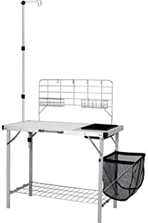 Durable Ozark Trail Portable Camp Kitchen and Sink Table