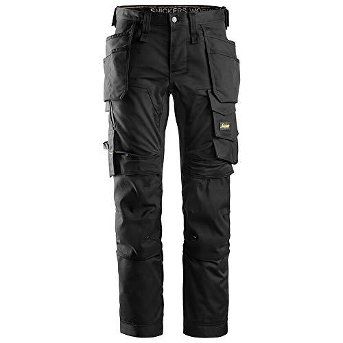 (スニッカーズ) Snickers メンズ All Round Work ホルスターポケット ストレッチ 作業パンツ 作業服 ズボン ワークウェア (31R) (ブラック)