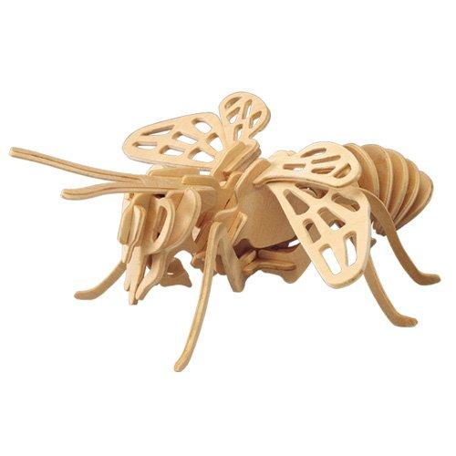 BIENE 3D Holzbausatz - Insekt Honigbiene - Modell: E018 von etna