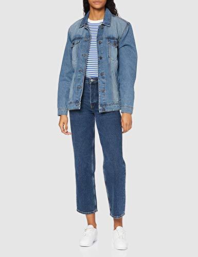 NAME IT Nmole L/s Med Jacket Noos Chaqueta Vaquera, Azul (Medium Blue Denim Medium Blue Denim), 40 (Talla del Fabricante: Medium) para Mujer
