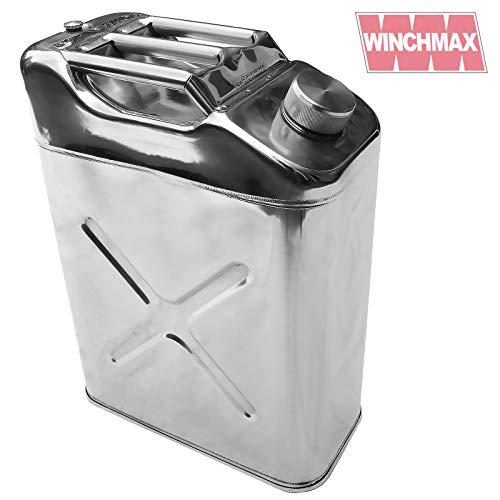 WINCHMAX Kanister, 20 l, polierter Edelstahl, für Kraftstoff, Benzin, Diesel, Wasser, Standardmuster