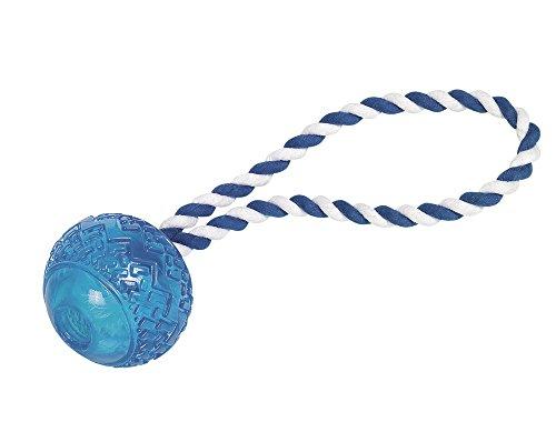 Nobby TPR Ball mit Seil blau 26cm