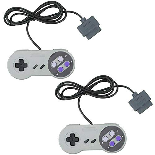 2 Packs Replacement Controller Gamepad for SNES, Game Controller for Original Super Nintendo Game Entertainment System