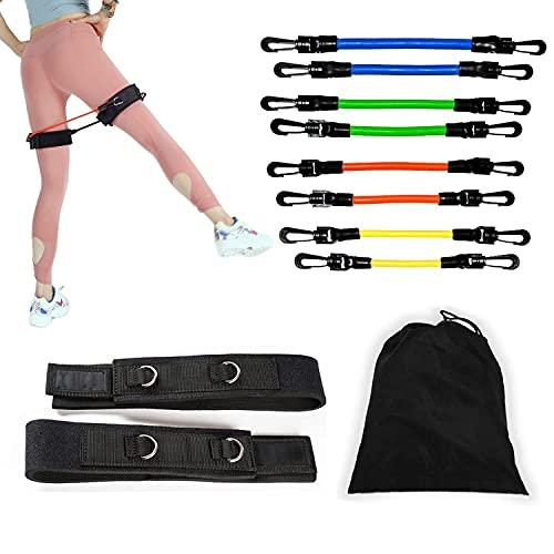Elastici Fitness 180 Lbs, elastico fitness in lattice naturale al 100%, set di fasce di resistenza...