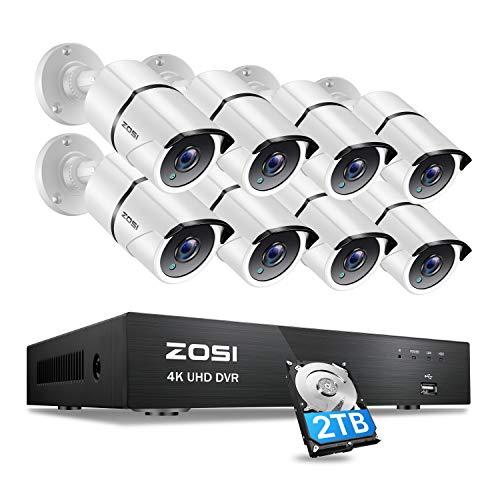 ZOSI 4K/8MP Kit de Cámaras Seguridad 8CH H.265+ Videograbad