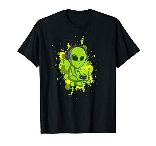 Video Game Gaming Alien Computer Zocken Nerd PC T-Shirt