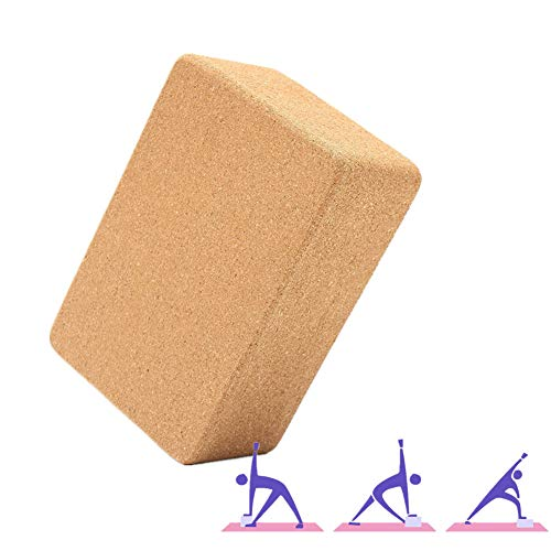 zhppac Yoga Block Bloque Yoga Corcho Yoga Conjunto Soporte para Yoga Bloque de Yoga Conjunto Pilates la Cabeza de De Espuma Bloques de Yoga 1pc,-