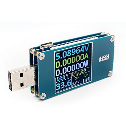 VIDOO USB Tester Widerstand Spannung Strom Leistung Energie Messung Batterie Kapazität Meter Typ-C Farbe S