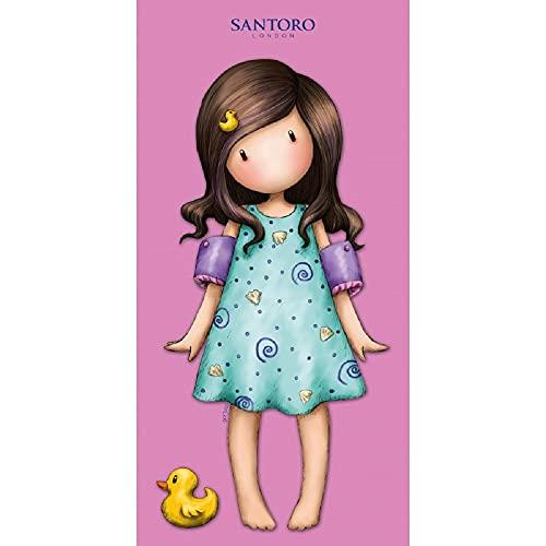 Halantex Muñeca vestido azul playa exclusiva toalla de playa de algodón 75 x 150 cm niña niña
