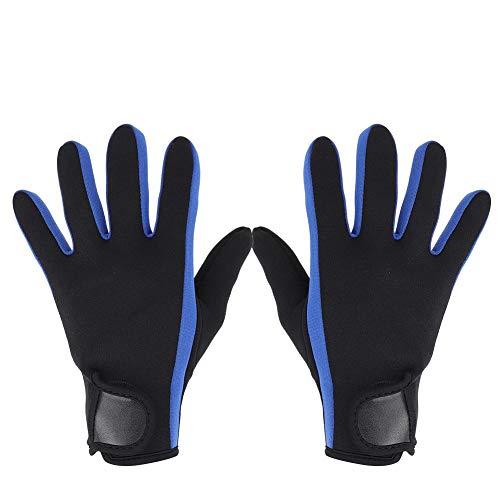 Guantes de Neopreno Guantes de Neopreno de 1,5 mm Guantes térmicos Antideslizantes para Hombres Mujeres(M-Negro y Azul)