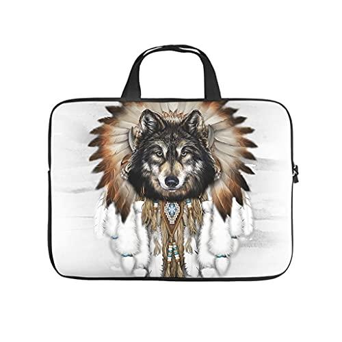 Native Wolf Dreamcatcher - Bolsa de mano multifuncional de alta capacidad para ordenador portátil, bolsa de mensajero para trabajo y estudio para hombres y mujeres