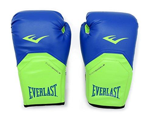 Everlast Xe2614 Guantes de Entrenamiento Pro Style 14 oz, verde/azul