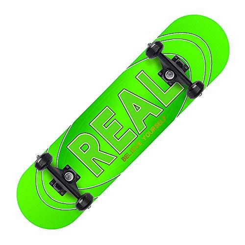 GSHIYA Skateboard 7 Strati Ponti Complete Skateboard per PRO Principianti Adulti Bambini delle Ragazze dei Ragazzi Colorati con Maple Deck,Real