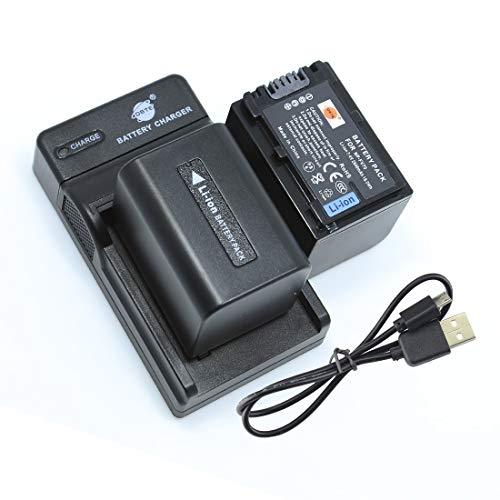 DSTE NP-FV70 - Batería y cargador para cámaras Sony DCR-SX21, DCR-SX44, DCR-SX45,...