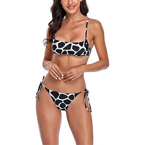 Sexy Traje de BañO BañAdor Conjunto Ropa de Playa, Mujer sexy 2 piezas Traje de baño Damas acolchado Push Up Up Top Greeky String Side Side Bikini Bikini Set Traje de baño Traje de natación Elegante M