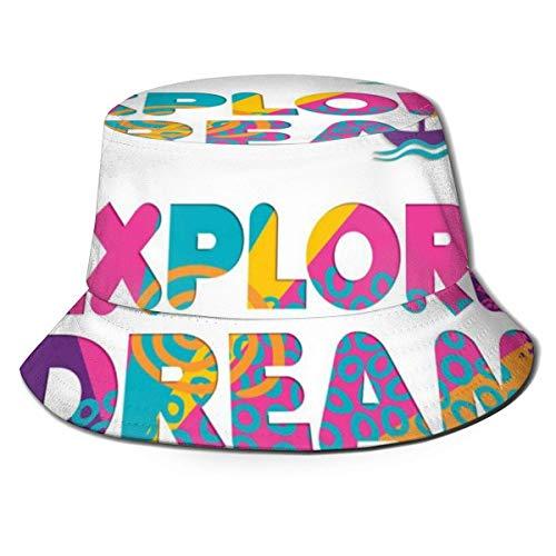 Xian Shiy Casquette de pêcheur Unisexe, explorez Le rêve et découvrez Le thème des Vacances d'été avec Un Motif de Bateau Tropical, Un Chapeau de Plage de Voyage