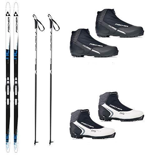 Fischer Langlaufski-Set Comfort Cruiser klassisch + Bindung + Schuhe + Stöcke (S (164 cm Länge - für 45 bis 64 kg))