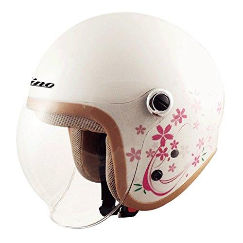 TNK工業 スピードピット ジェット型ヘルメット GS-6 サクラホワイト サイズ:LADY'S FREE(57-58cm未満) 51199.0