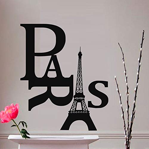 Tianpengyuanshuai Woonkamer Parijs toren muur stickers pvc beweegbare lijm art decal huisdecoratie