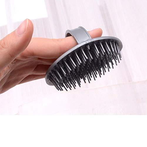 Yener 1PCS Silicone Spa Afslankmassage Borstel Siliconen Hoofd Lichaam Shampoo Hoofd Massager Kam Haar Waskam Bad Borstel Douche, Grijs
