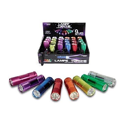 CMP 592295 Lampe avec Torche 9 LEDs + 3 Piles LR03 Noir