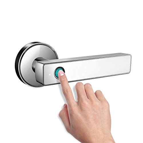 Smart Biometric Fingerprint Handle Door Lock,Safely Convenient with Fingerprint Bluetooth APP Key Unlock for Home Office Apartment Hotel Garage School Wooden Door by Nyboer