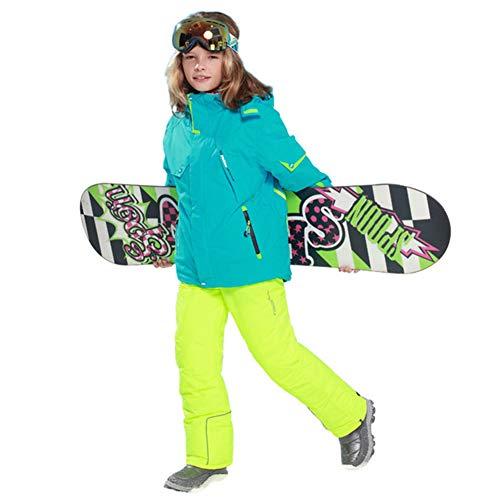LSERVER Jungen und Mädchen Skianzug 2 teilig Skijacke + Skihose, Bildfarbe C, 146/152