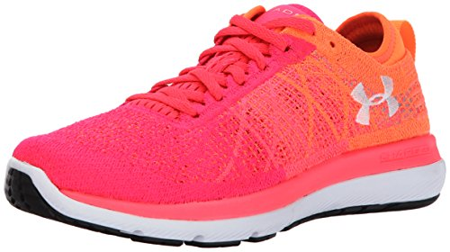 Under Armour Women's Threadborne Fortis Running Shoe, Penta Pink (600)/Magma Orange, 10.5