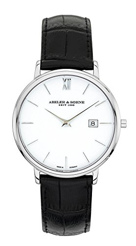 Abeler & Söhne–Made in Germany–Orologio da uomo con cinturino...