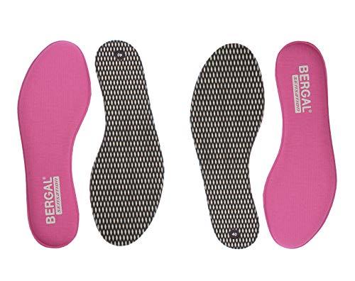BERGAL 2 Paar Einlegesohlen Sensation pink für Damen Gr. 39 - entspanntes Laufen mit Memory Support Schuheinlagen