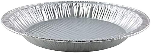 Handi-Foil 10' (Actual Top-Out 9-5/8 Inches - Top-In 8-3/4 Inches) Aluminum Foil Pie Pan - Disposable Baking Tin Plates Made in USA (Pack of 12)
