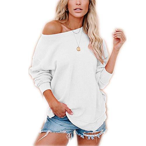 Otoño Suéter de Ropa Deportiva Jersey de Manga Larga Camiseta Casual para Mujer Ropa de hogar