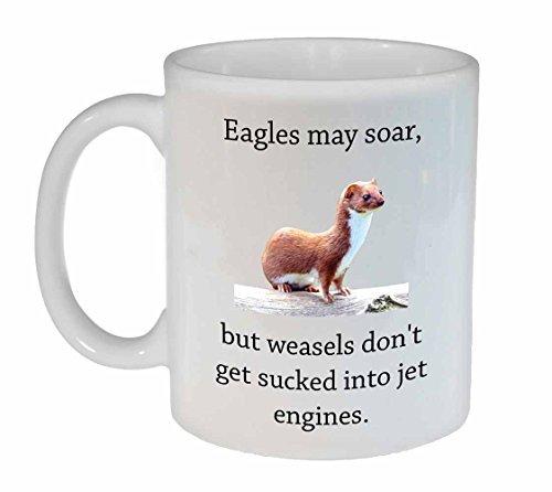 Max345Gall Lustige Tasse mit Zitat – Wiesels vs. Eagles Kaffee- oder Teetasse – Gag Gift Tasse