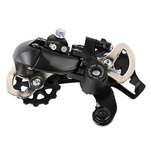Desviador Trasero Desviador de Bicicleta de montaña Desviador de Bicicleta para 21 Bicicletas de montaña de 24 velocidades Negro