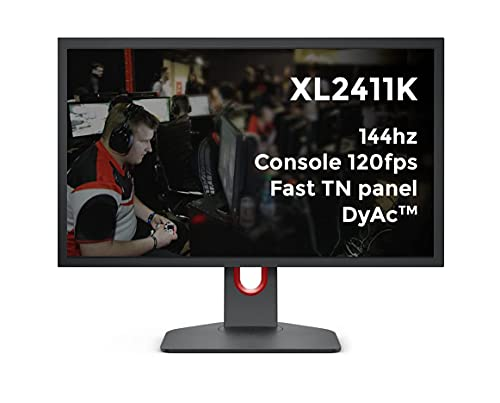 BenQ ZOWIE XL2411K 24 Zoll 144Hz Gaming Monitor/PS5 und XBOX 120fps @ 1080p/Schnelles TN Panel/DyAc/Black eQualizer/Color Vibrance