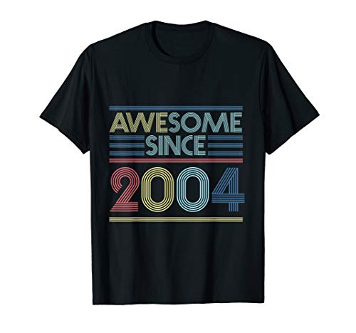 Vintage 16th Birthday Gifts - Awesome Since 2004 T-Shirt